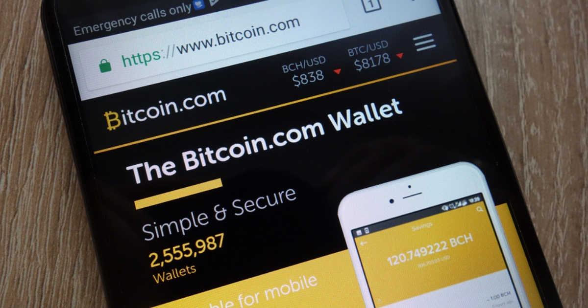 Wallet with bch british-based