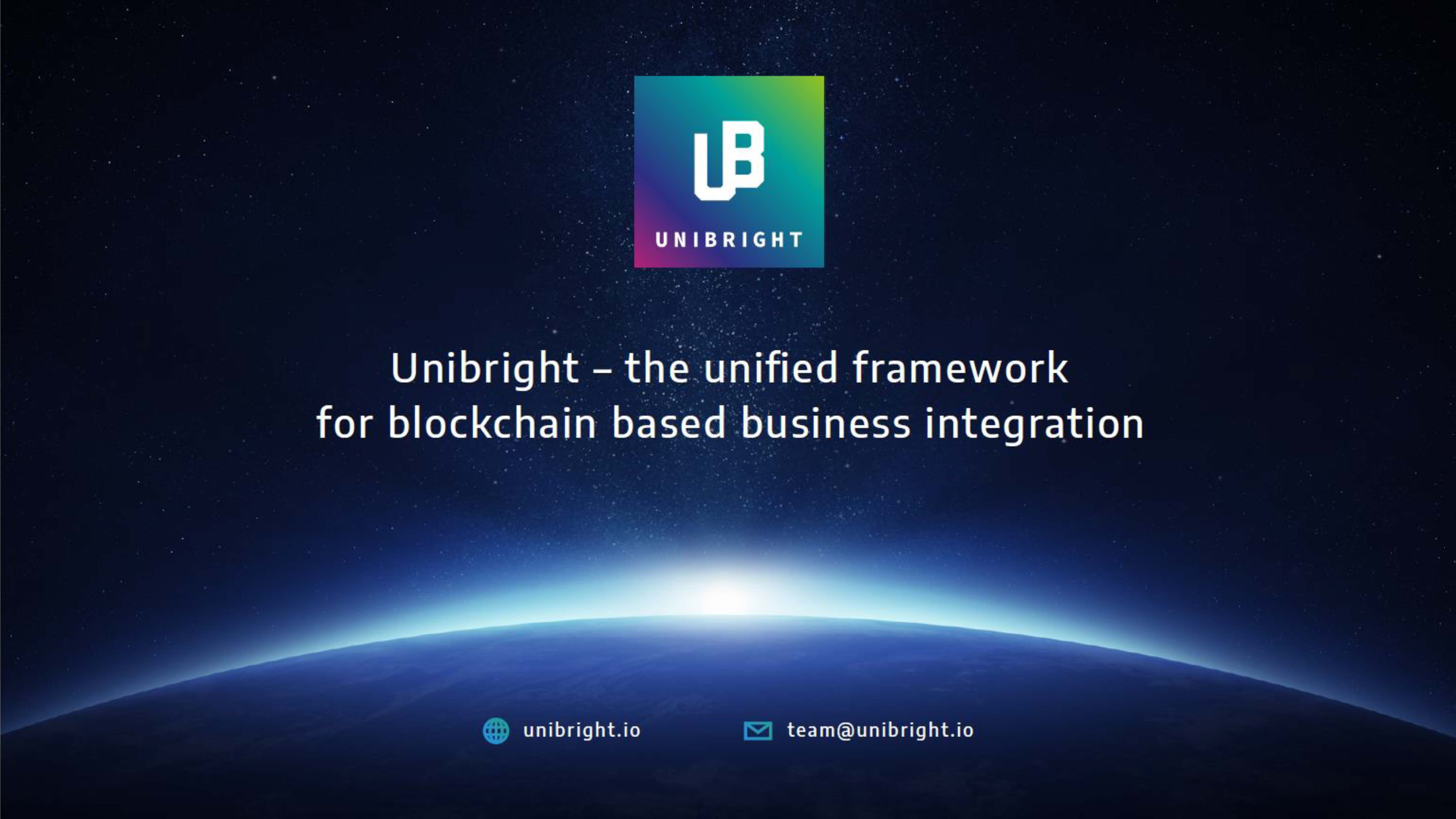 Unibright Framework for blockchain Integration