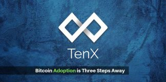 Believe TenX- Bitcoin adoption is three steps away