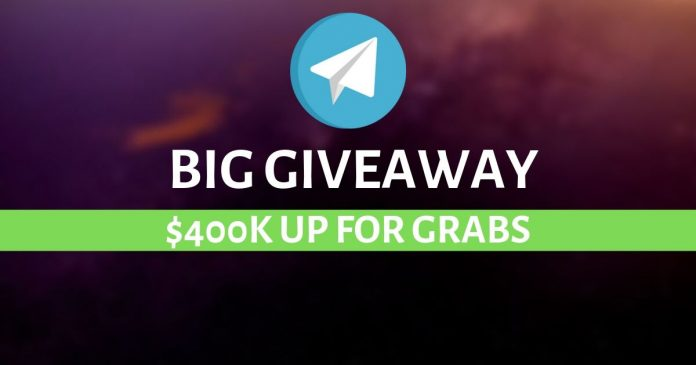 Telegram is offering a giveaway