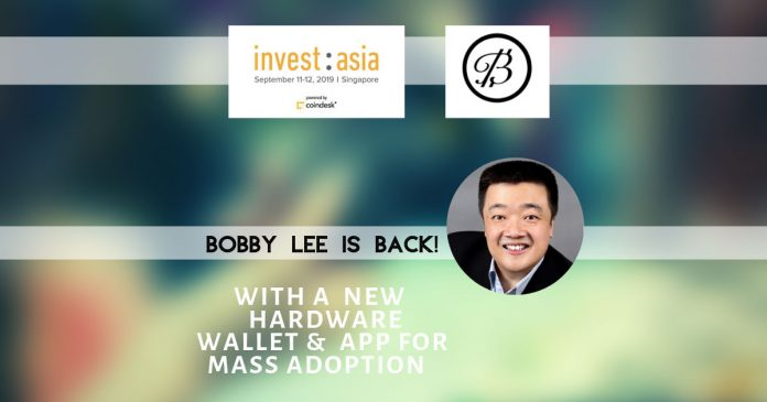 Bobby Lee launches Ballet, crypto hardware wallet at Invest:Asia 2019