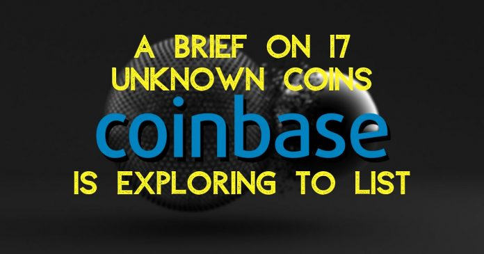 Which coins is Coinbase exploring?
