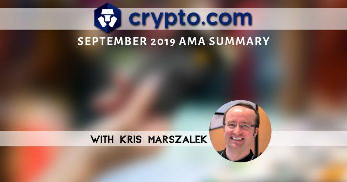 Crypto.com September AMA Summary