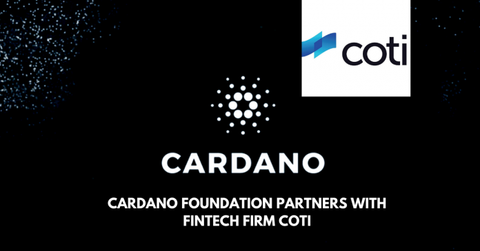 Cardano Partners with Fin-tech Platform COTI
