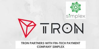 Tron Partners with Fintech Firm Simplex