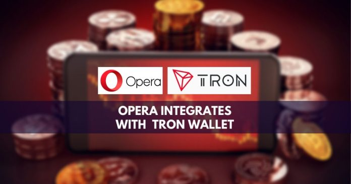 Opera integrates with Tron