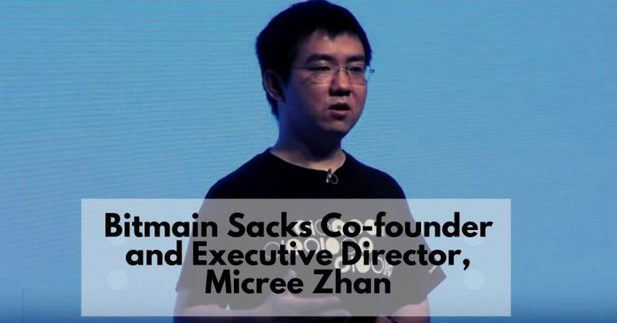 Bitmain Sacks Co-founder and Executive Director, Micree Zhan