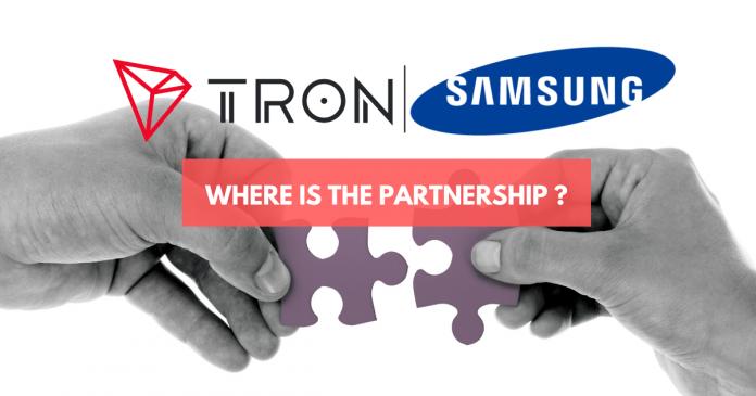 No Partnership News: TRON Rejoices Samsung Blockchain Keystore Integration