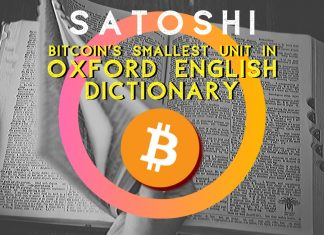 There is a 'Satoshi', Bitcoin's Smallest Unit in Oxford English Dictionary