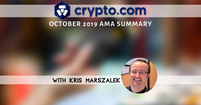 Crypto.com AMA Summary: November Looks Good
