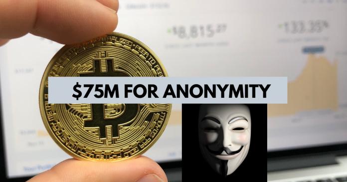 Bitcoin to receive $75 million