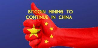 China will not ban bitcoin mining