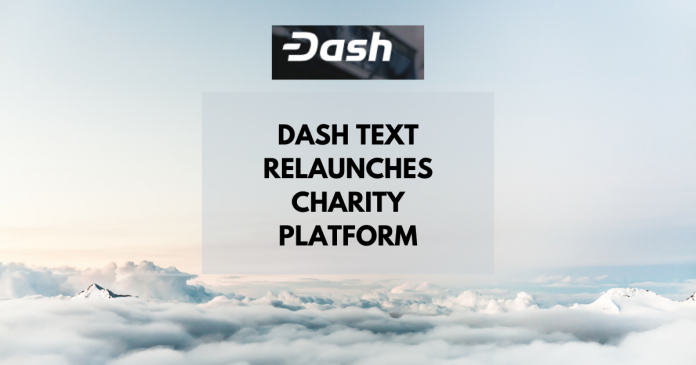 Dash Text Relaunches Charity Platform