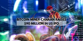Bitcoin Miner Canaan raises $90M in US IPO