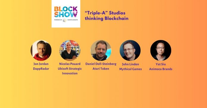 "Blockshow Asia 2019: ""Triple-A"" Studios thinking Blockchain"