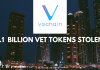 VeChain lost 1.1 Billion of VET. Blame the Hackers