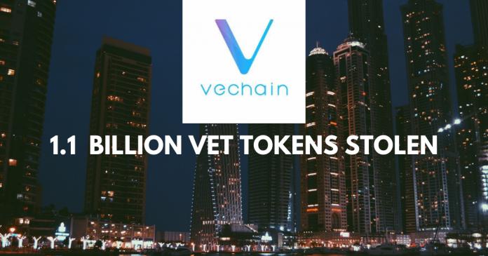 VeChain lost 1.1 Billion of VET. Blame the Hackers