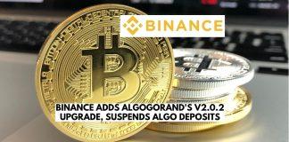 Binance Adds Algorand's V2.0.2 Upgrade, Suspends ALGO Deposits