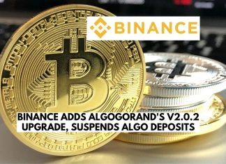 Binance Adds Algorand's V2.0.2 Upgrade, Suspends ALGO Deposits