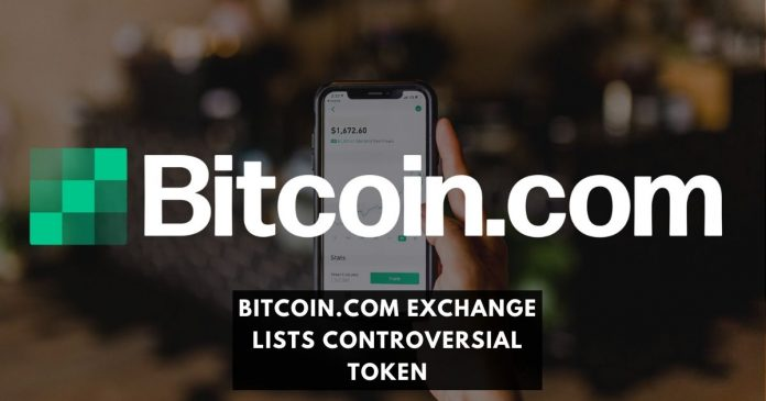 Bitcoin.com Exchange Lists Controversial Token