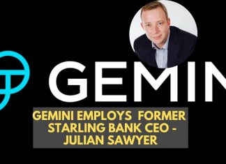 Gemini Employs Former Starling Bank Executive