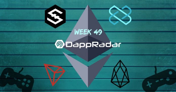 Dapp Data with DappRadar Week 49