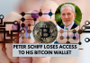 Peter Schiff Loses Access to BTC Wallet