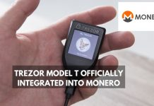 Monero Integrates Trezor Model T