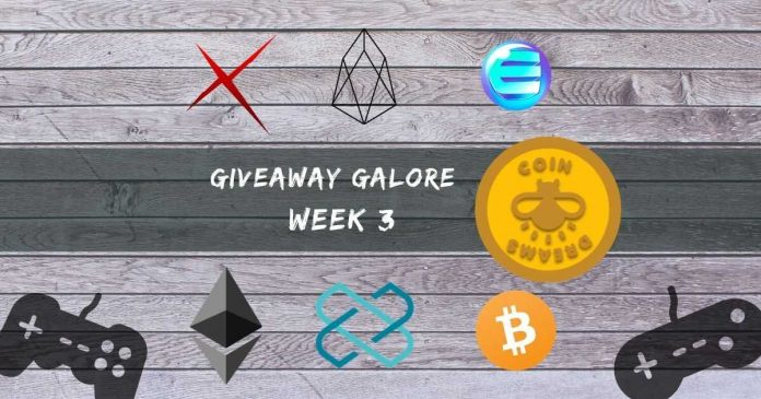 Giveaway Galore with CoinDreams: Week 3