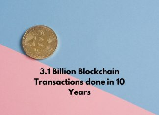 3.1 Billion Blockchain Transactions done in 10 Years