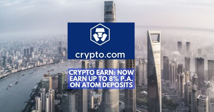 Crypto Earn: Now Enables Up To 8% P.A. Earnings On ATOM Deposits