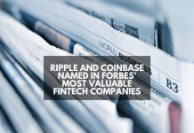 Ripple and Coinbase Named In Forbes' Most Valuable Fintech Companies