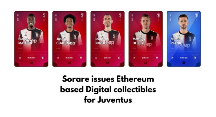 Sorare issues Ethereum based Digital collectibles for Juventus