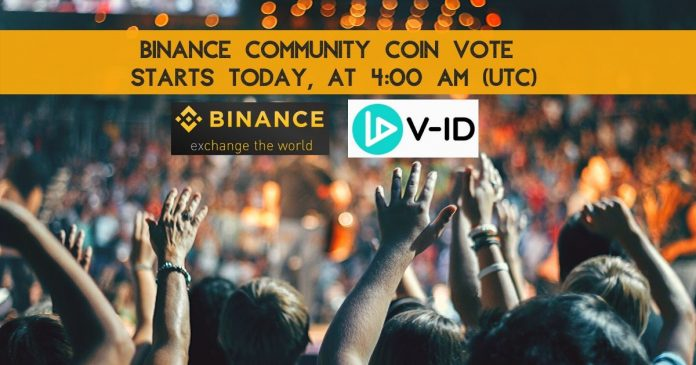 V-ID Binance Community Coin Vote and Giveaway