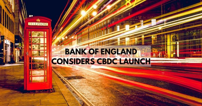BoE considers cbdc launch