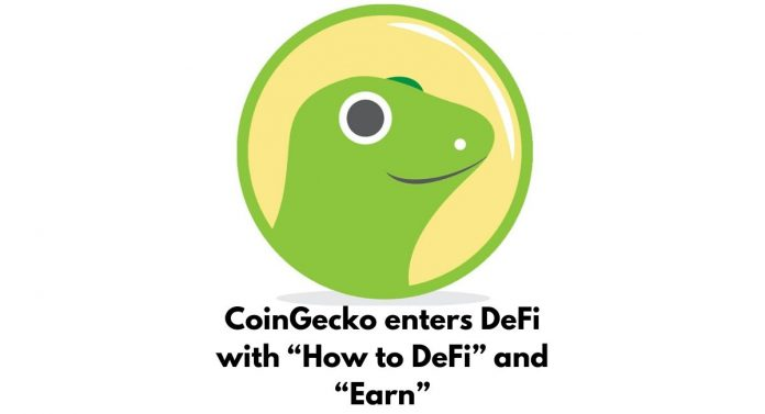 """CoinGecko enters DeFi with """"How to DeFi"""" and """"Earn"""""""