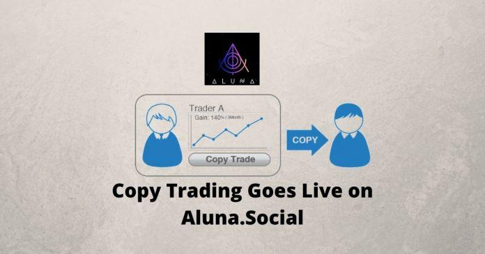 Copy Trading Goes Live on Aluna.Social
