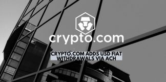 Crypto.com Adds USD Fiat Withdrawals via ACH