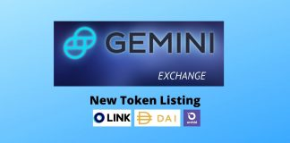 Gemini Lists 3 New Tokens - LINK, DAI, OXT