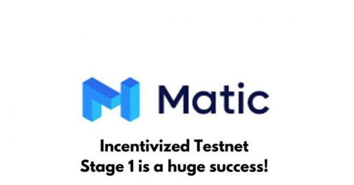 Matic Network Incentivized Testnet Stage 1 A Huge Success