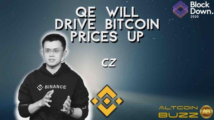 QE to Pump Bitcoin Price- CZ Binance