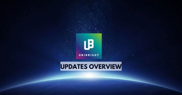 unibright updates and overview