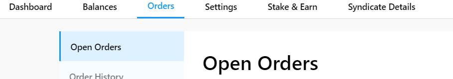 Crypto.com Orders