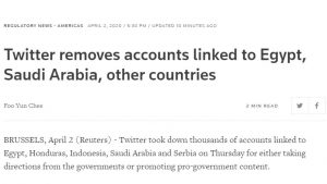 Twitter takes down accounts
