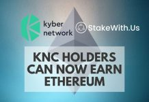 Kyber Network partners with StakeWith.Us