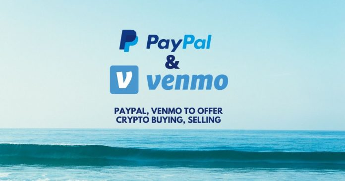 PayPal and venmo offer crypto buying