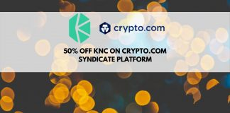 50% off Kyber Network (KNC) on crypto.com syndicate platform