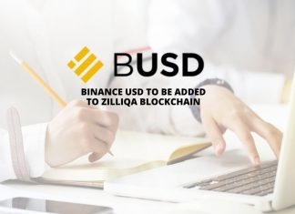 Binance USD to be added to Zilliqa blockchain
