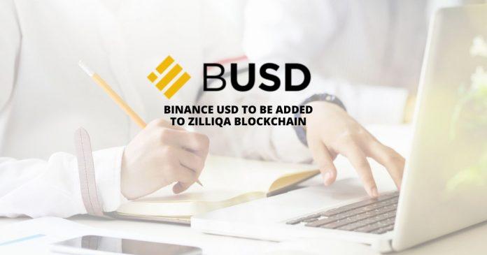 Binance USD to be added to Zilliqa blockchain