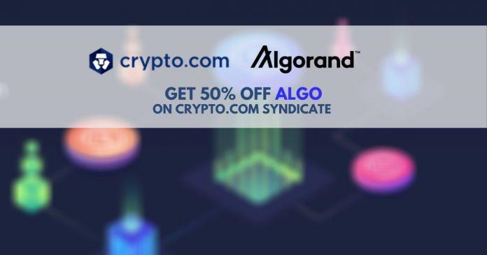 Algorand Tokens Now on Crypto.com Syndicate